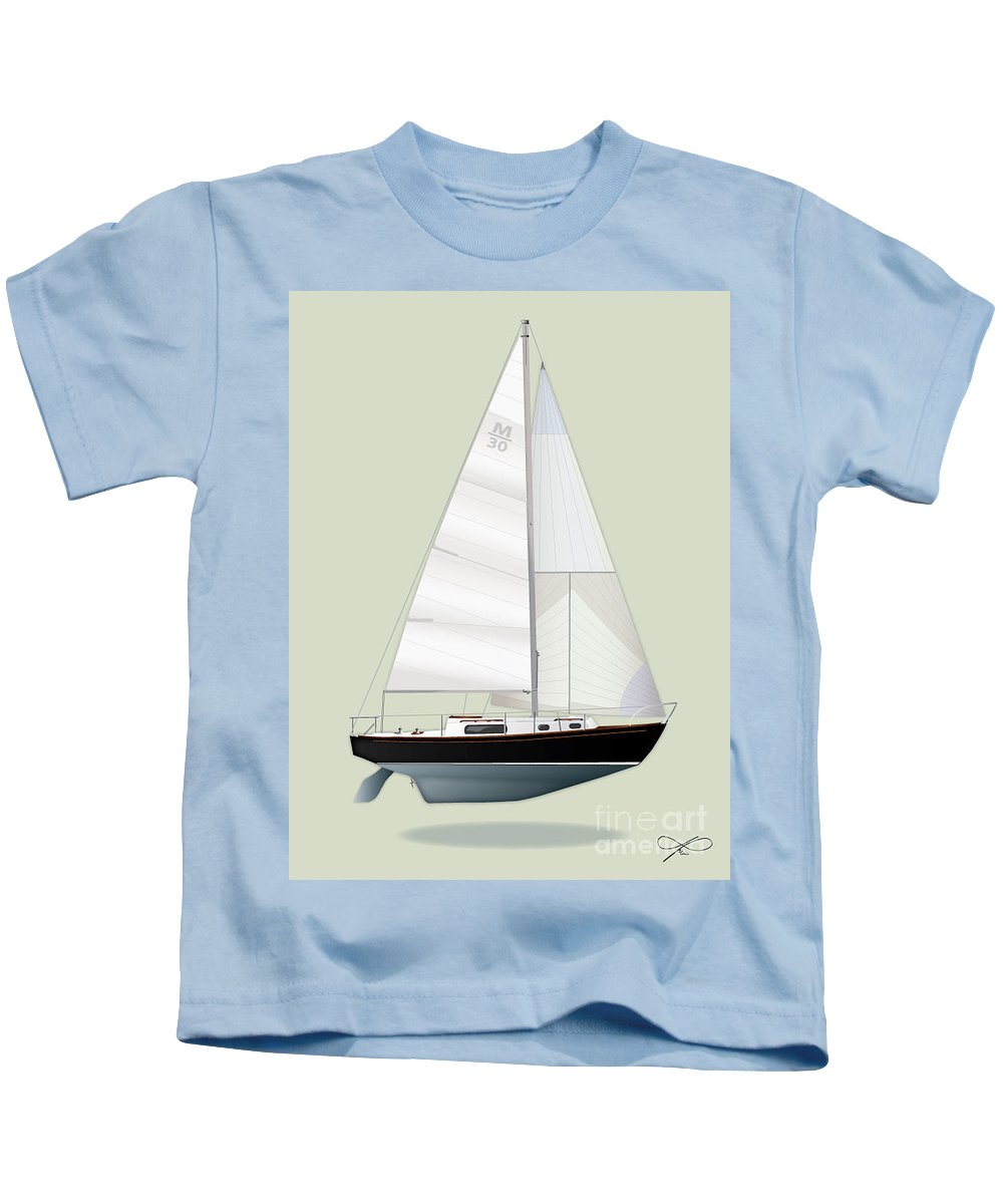 Regina Gallant Kids T-Shirt featuring the drawing m30 by Regina Marie Gallant