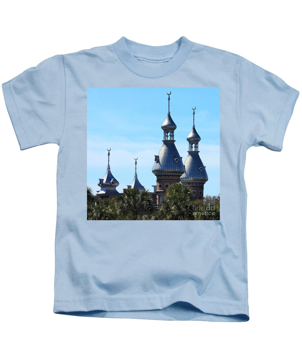 Minarets Of University Of Tampa Kids T-Shirt featuring the photograph Magnificent Minarets by Carol Groenen