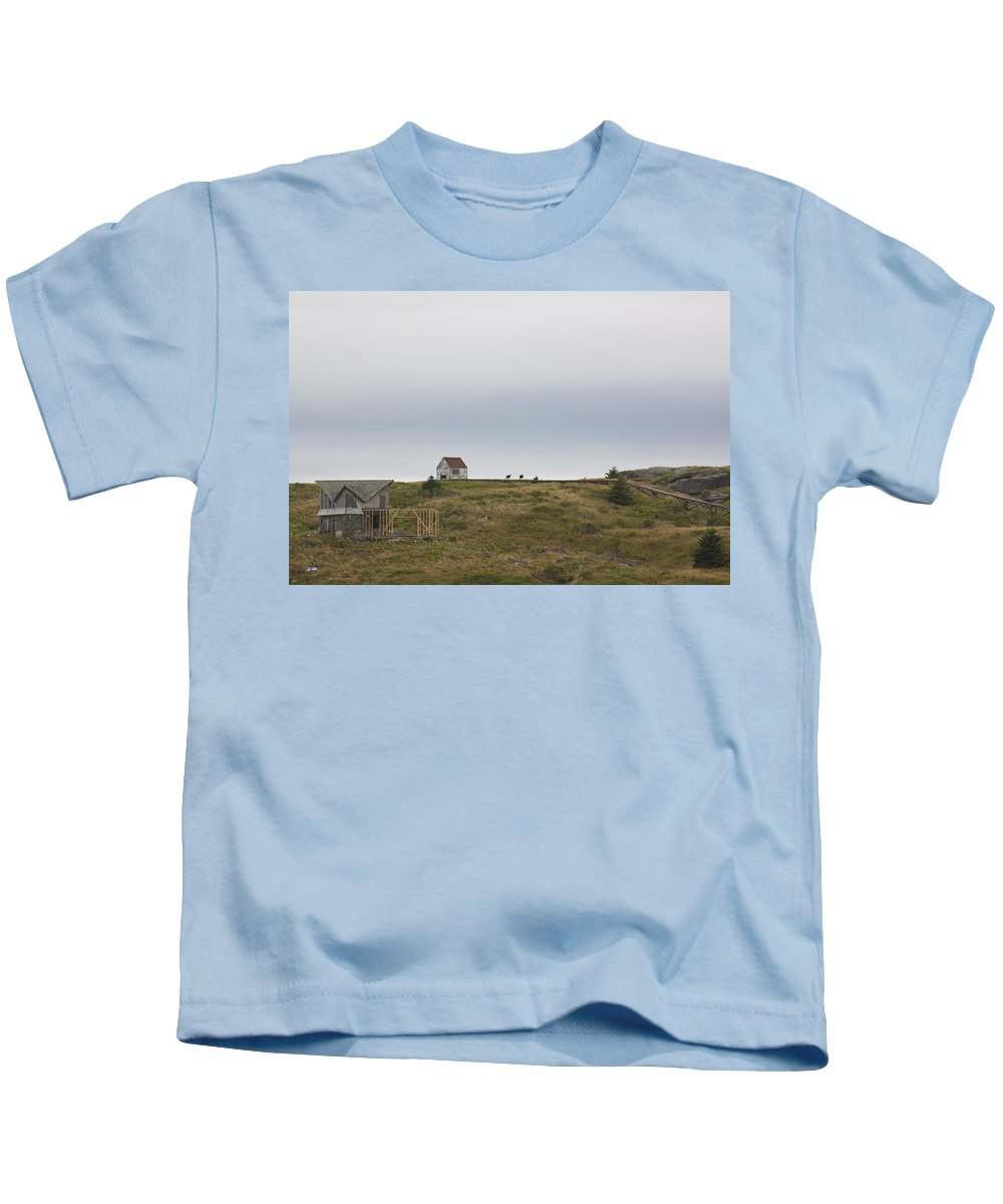 Goats Kids T-Shirt featuring the photograph Manana Goats by Jean Macaluso