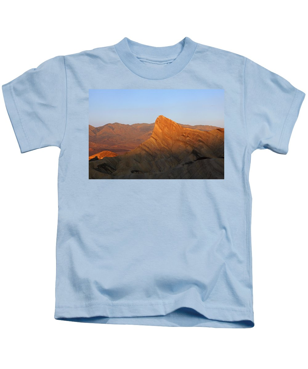 Death Valley Kids T-Shirt featuring the photograph Manly Peak Death Valley by Susan Rovira