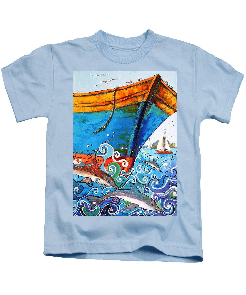 Litografia Kids T-Shirt featuring the painting Mare Nostrum by Giuseppe Sticchi