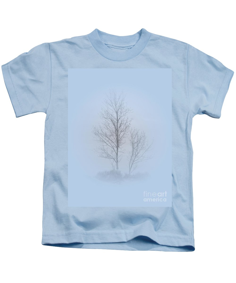 Trees Kids T-Shirt featuring the photograph Merely Sketches by Ann Horn