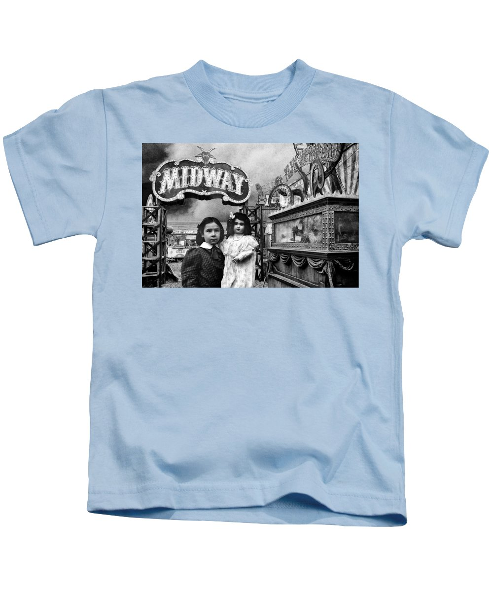 Midway Kids T-Shirt featuring the photograph Midway by Dominic Piperata