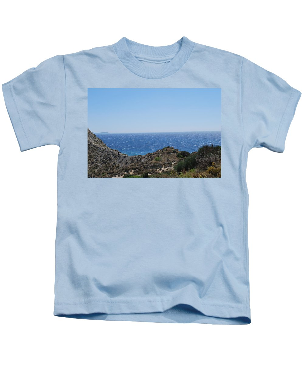 Mistral Wind Kids T-Shirt featuring the photograph Mistral 3 by George Katechis