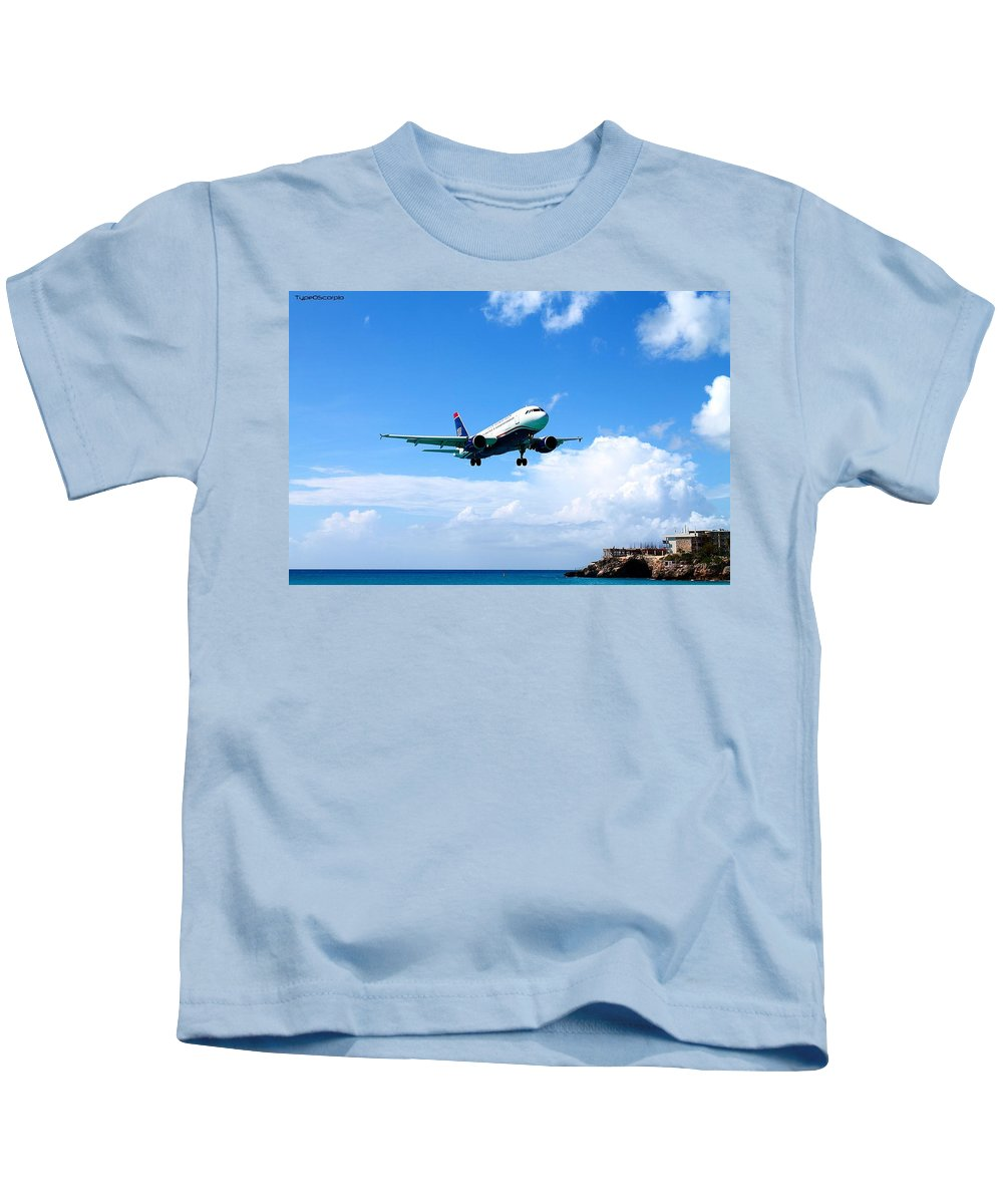 Jet Kids T-Shirt featuring the photograph Moments From Touchdown by James Markey