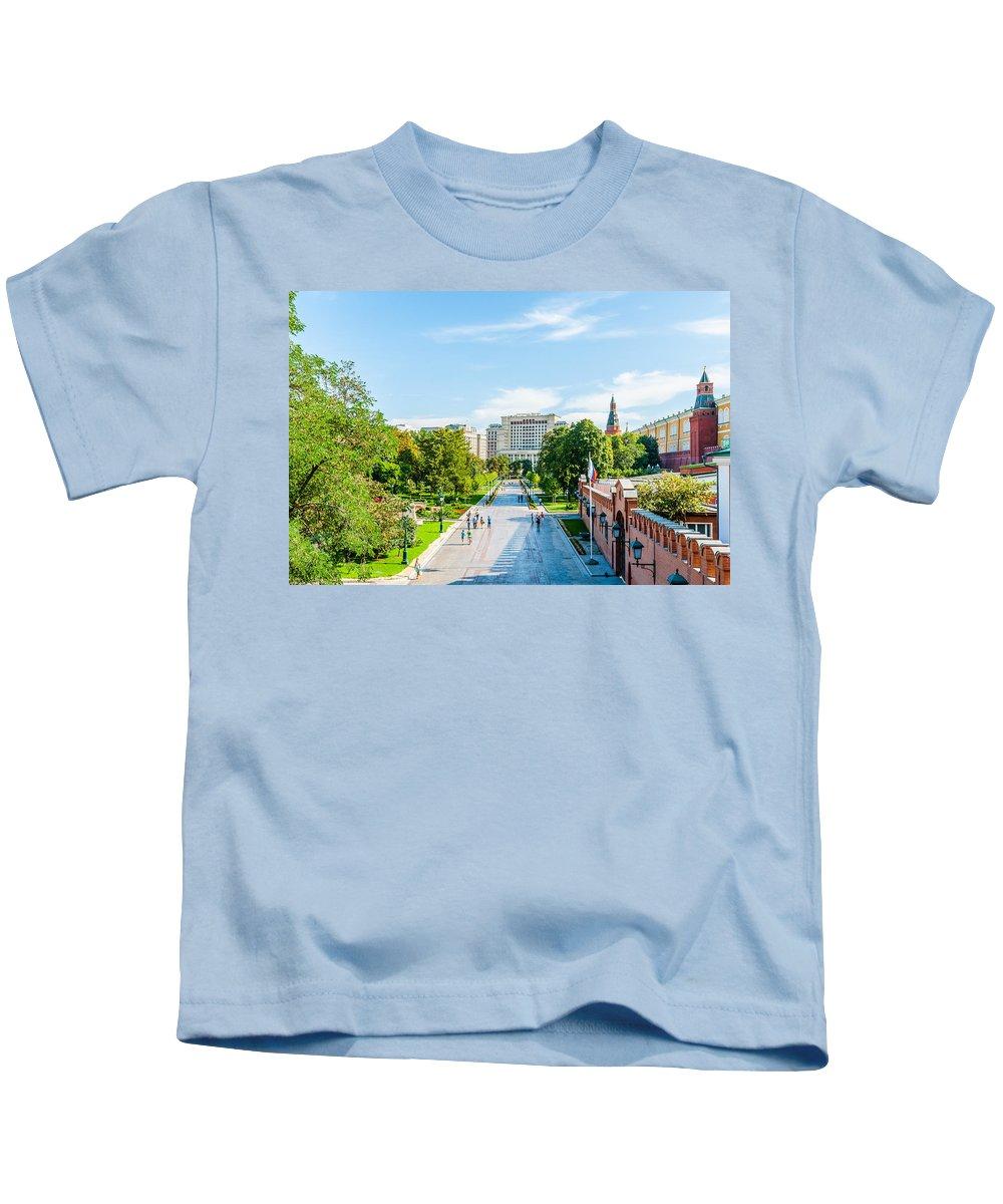 Moscow Kids T-Shirt featuring the photograph Moscow Kremlin Tour - 04 Of 70 by Alexander Senin
