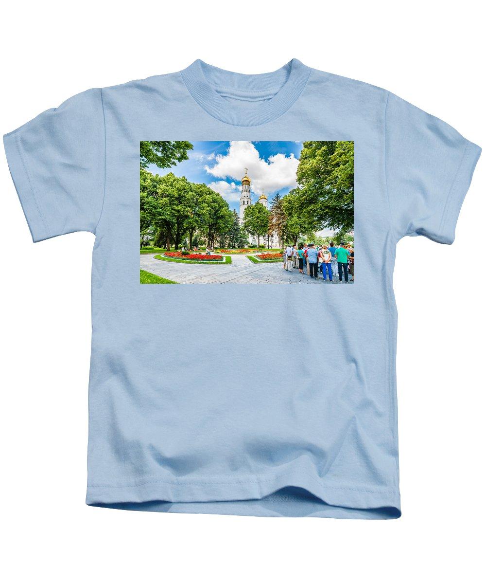 Moscow Kids T-Shirt featuring the photograph Moscow Kremlin Tour - 59 0f 70 by Alexander Senin
