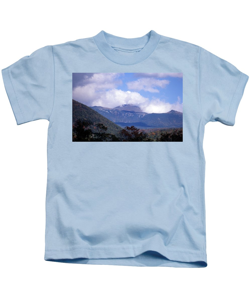 Mountain Kids T-Shirt featuring the photograph Mount Washington by Skip Willits