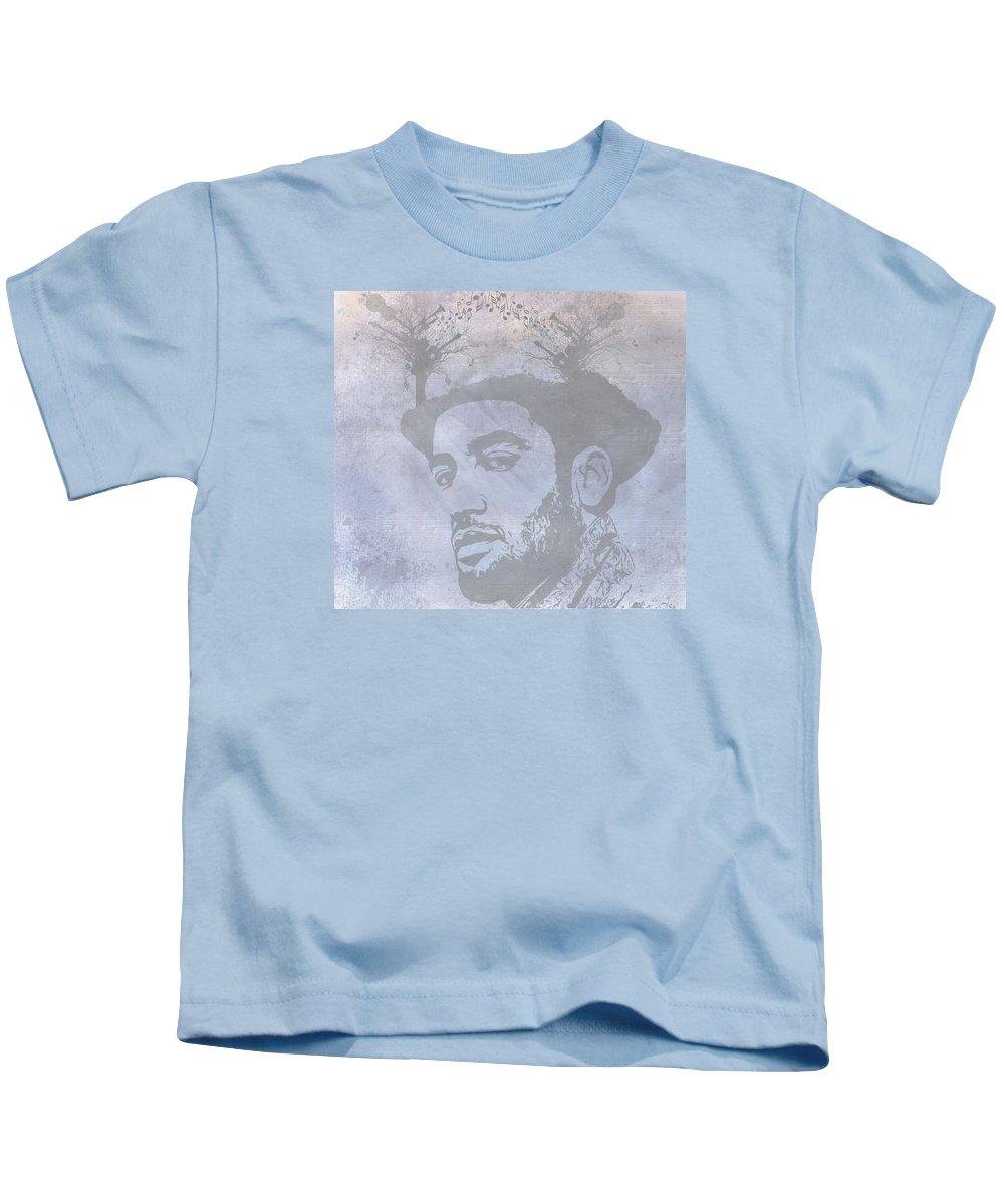 Musical Mind Of Ben Harper Kids T-Shirt featuring the digital art Musical Mind Of Ben Harper by Dan Sproul
