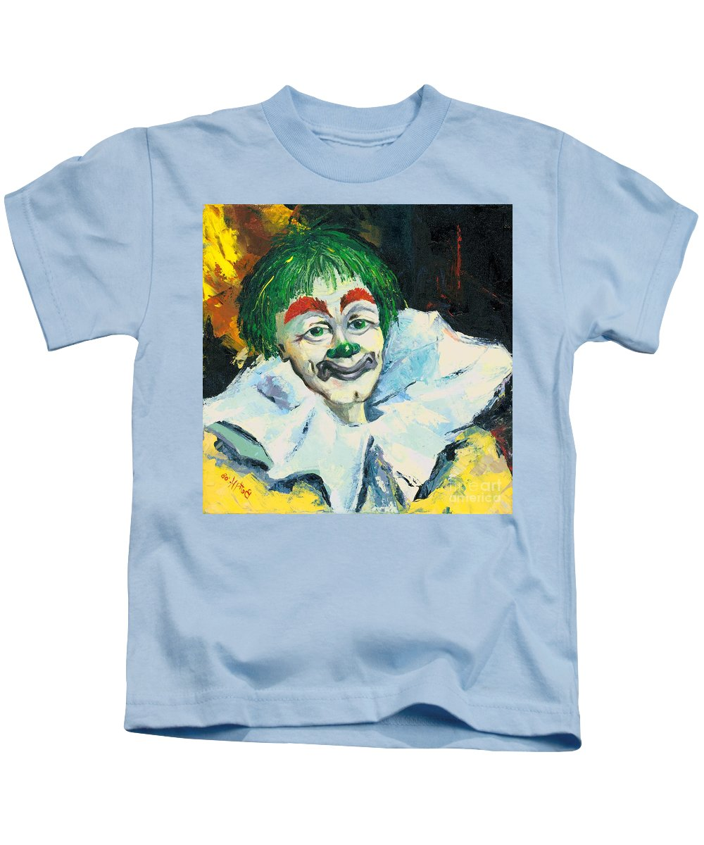 Canvas Prints Kids T-Shirt featuring the painting My Friend by Elisabeta Hermann