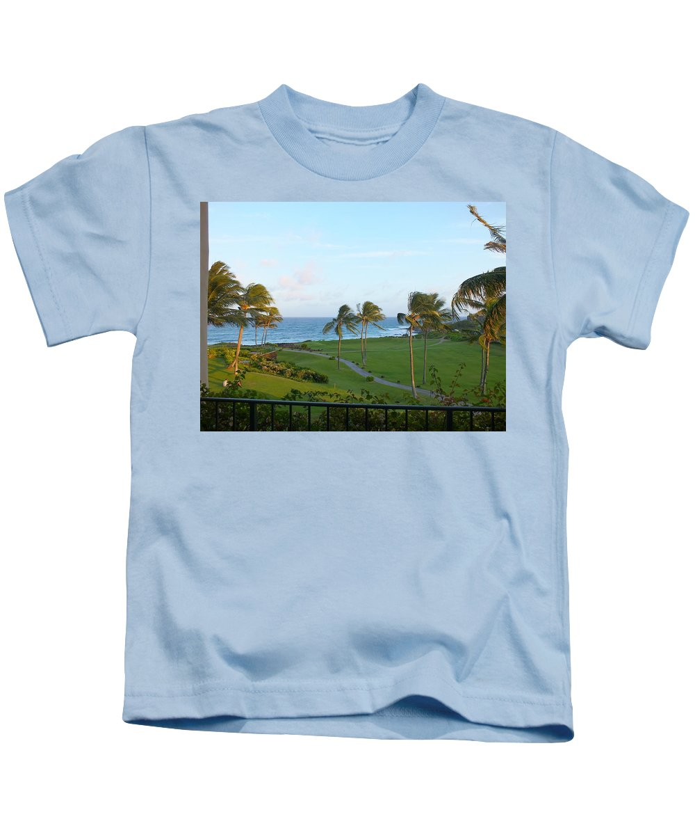 Sunset Kids T-Shirt featuring the photograph My Kind Of View by Christopher Westbrook