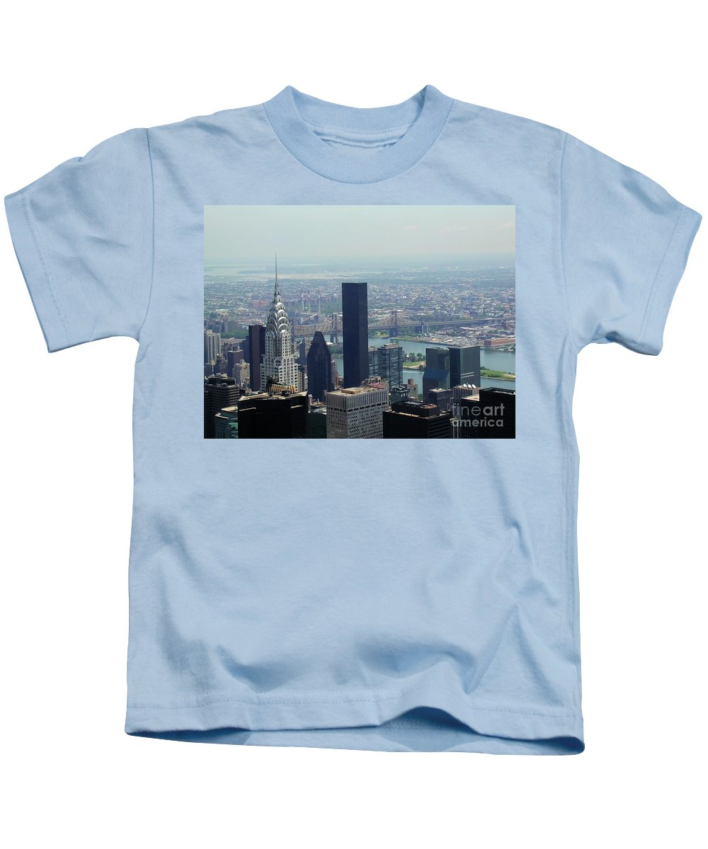 New York City Kids T-Shirt featuring the photograph New York City Chrysler Building by Tap On Photo