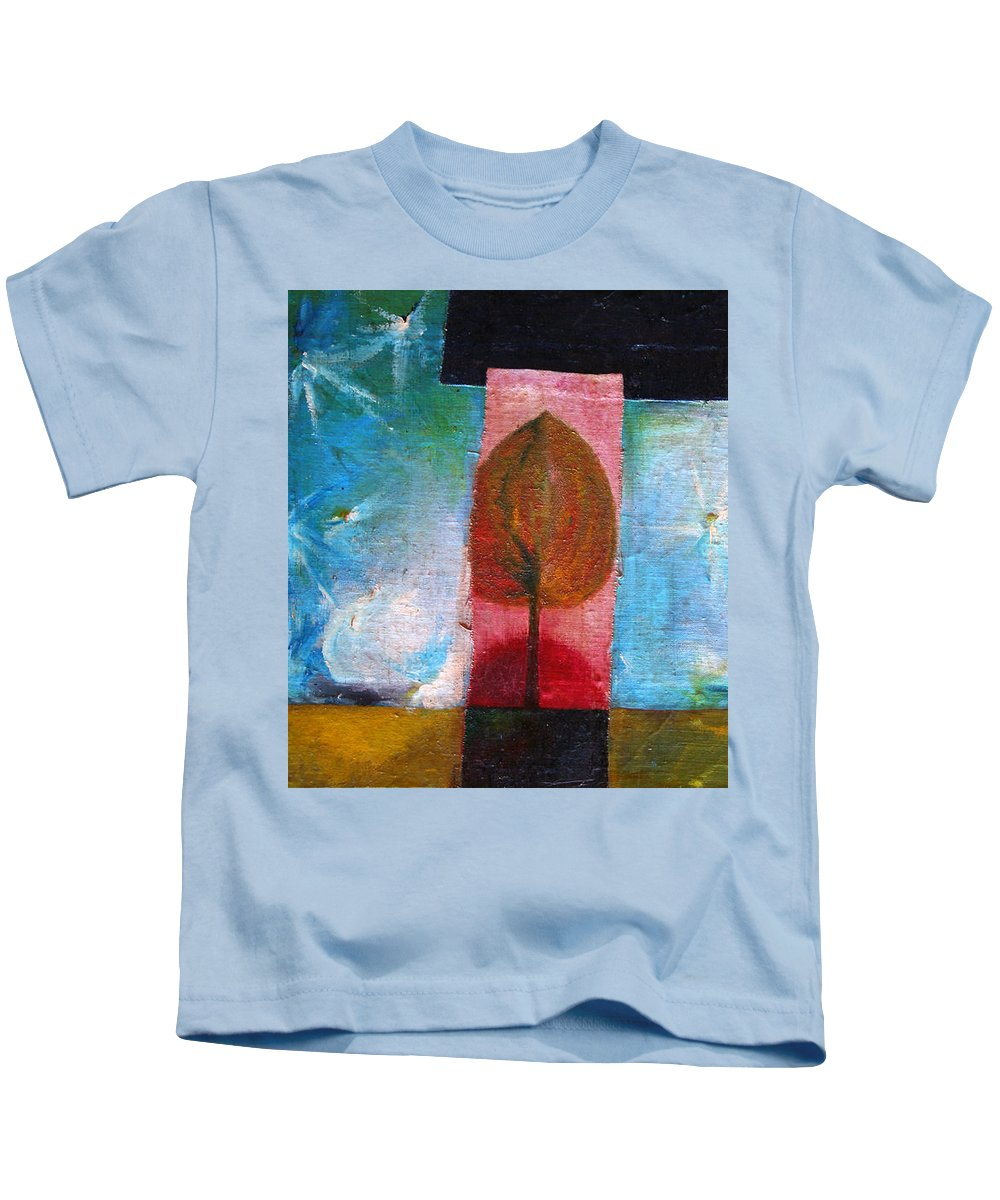 Colour Kids T-Shirt featuring the painting Night Comes by Wojtek Kowalski