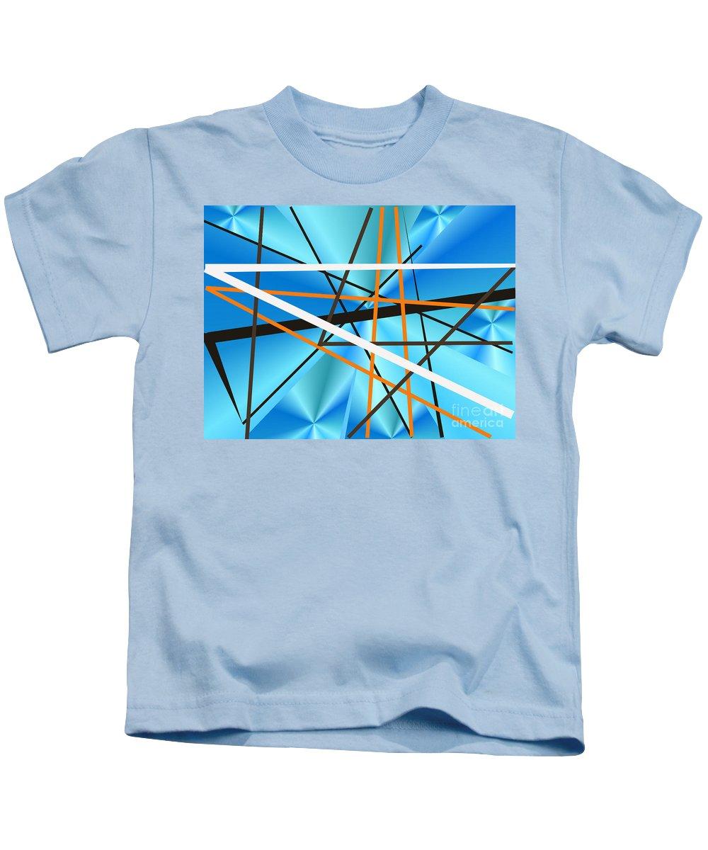 Kids T-Shirt featuring the digital art No. 122 by John Grieder