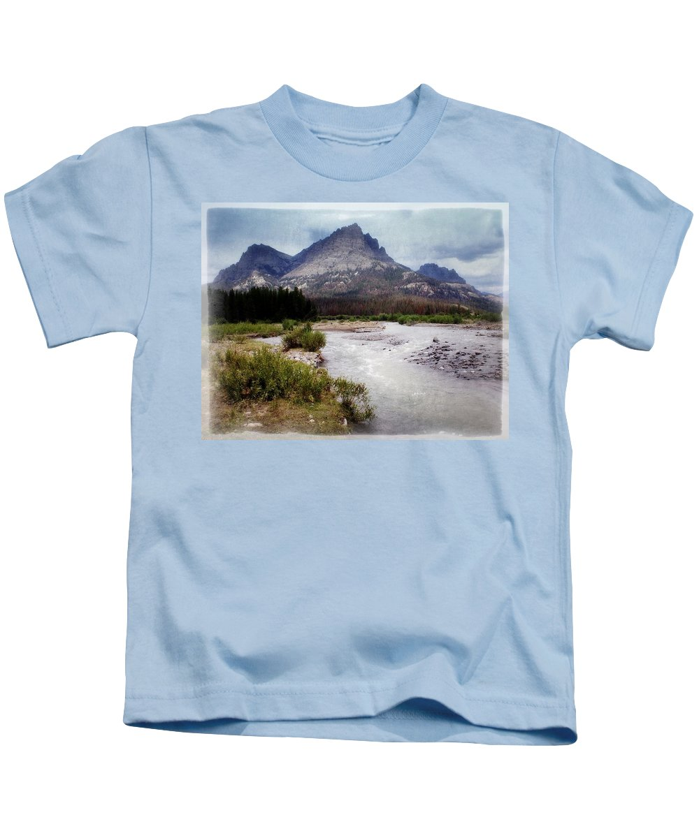 Wyoming Kids T-Shirt featuring the photograph North Of Dubois by Marty Koch