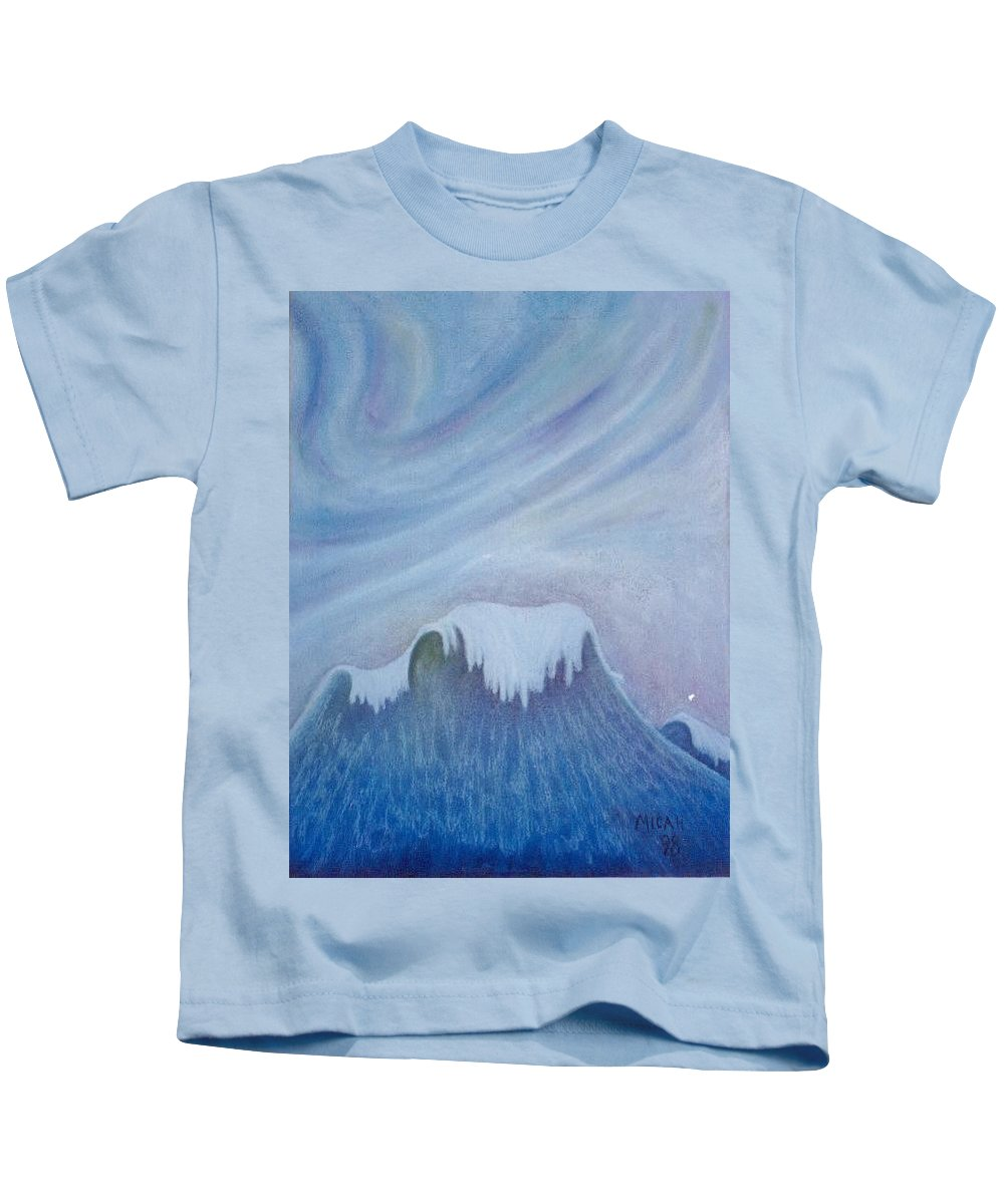 Ocean Kids T-Shirt featuring the painting Ocean Wave by Micah Guenther