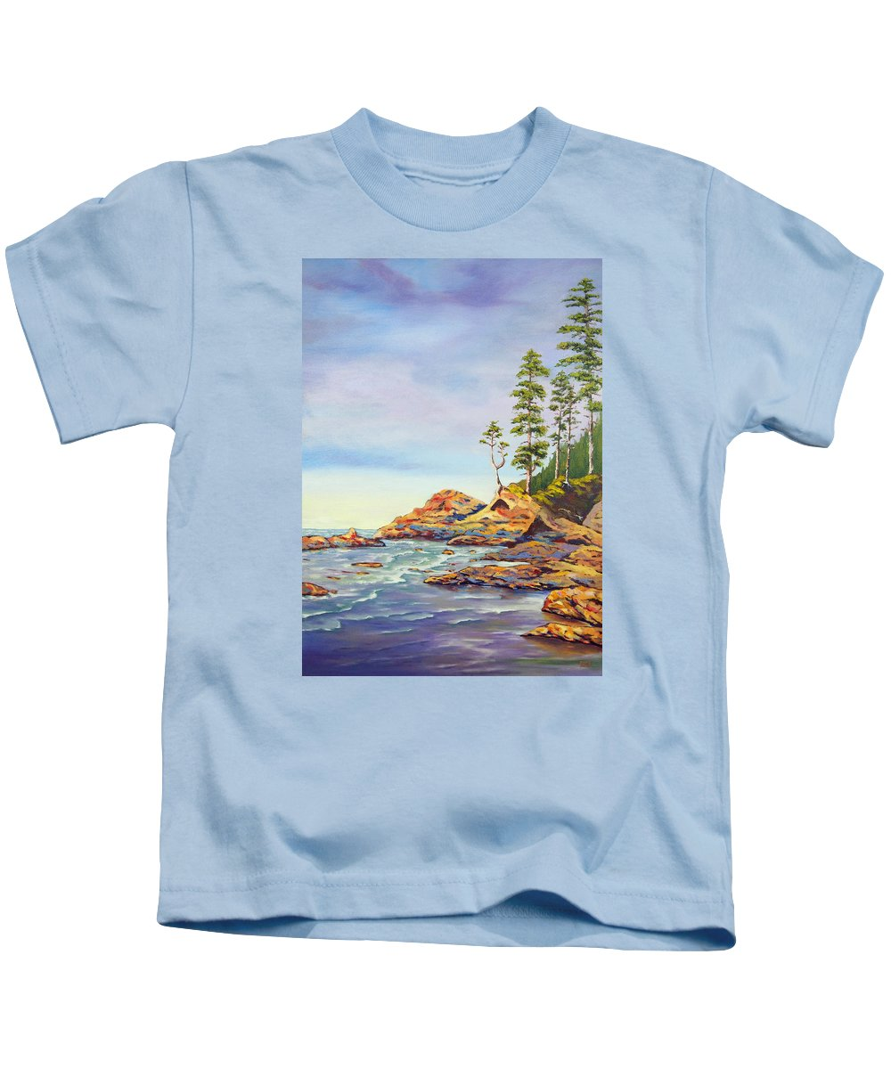 Ocean Kids T-Shirt featuring the painting Ocean Witness by Brent Ciccone