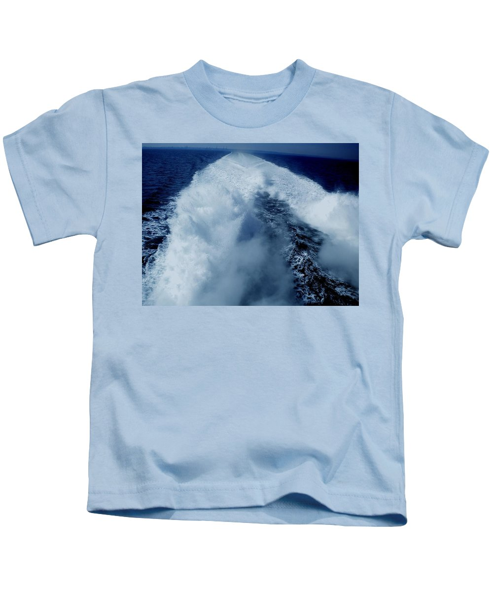 Colette Kids T-Shirt featuring the photograph Oceon Waves Denmark by Colette V Hera Guggenheim
