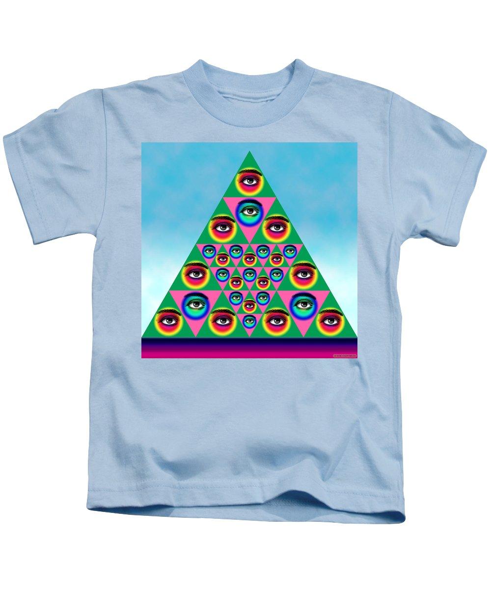 Digital Collage Kids T-Shirt featuring the digital art Oculi Omnium by Eric Edelman