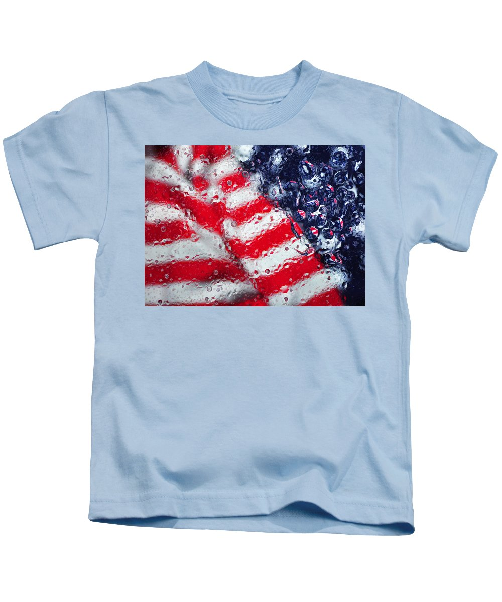 Flag Kids T-Shirt featuring the photograph Old Glory Impression by Jack Daulton