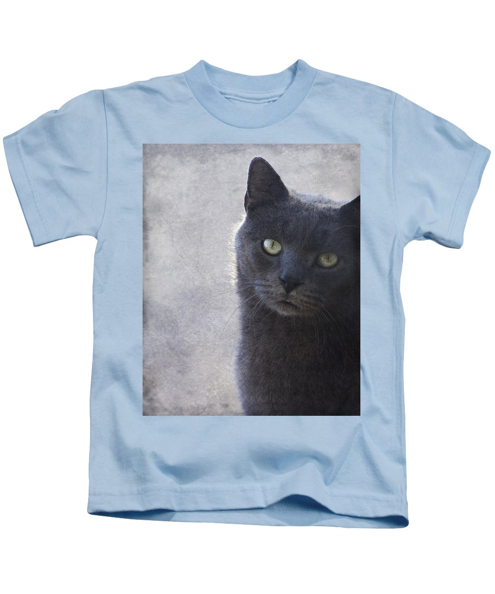 Russian Kids T-Shirt featuring the photograph One Of Those Mysterious Blue Days by Kathy Clark