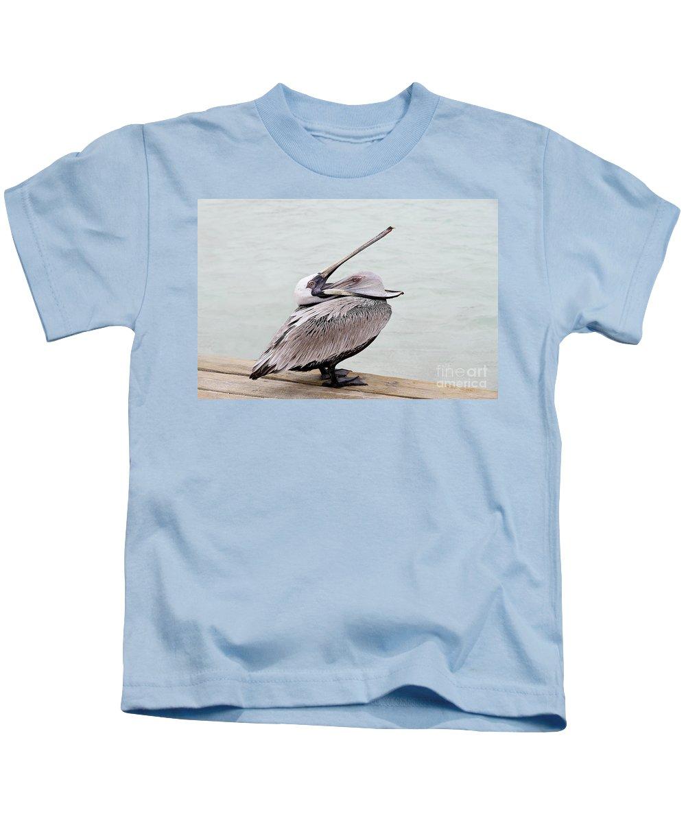 Bird Kids T-Shirt featuring the photograph Open Wide by Teresa Zieba