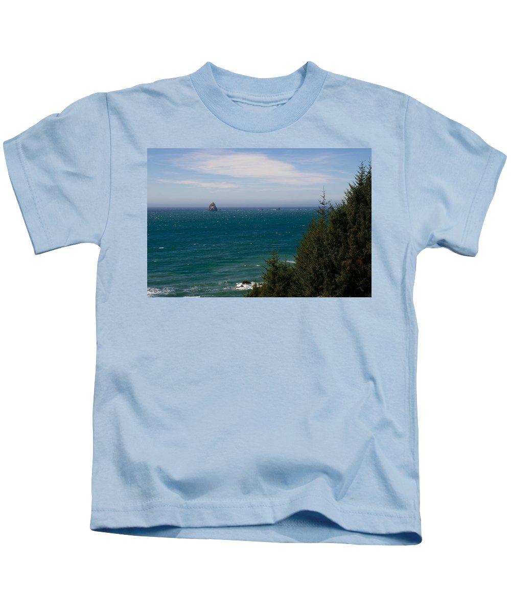Landscapes Kids T-Shirt featuring the photograph Oregon Coast II by Richard Headley