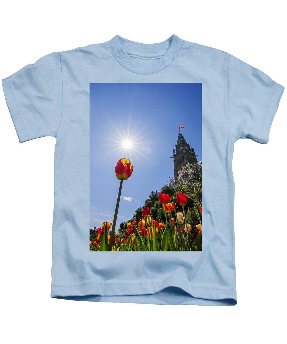 Ottawa Kids T-Shirt featuring the photograph Ottawa Tulip Festival by Mircea Costina Photography