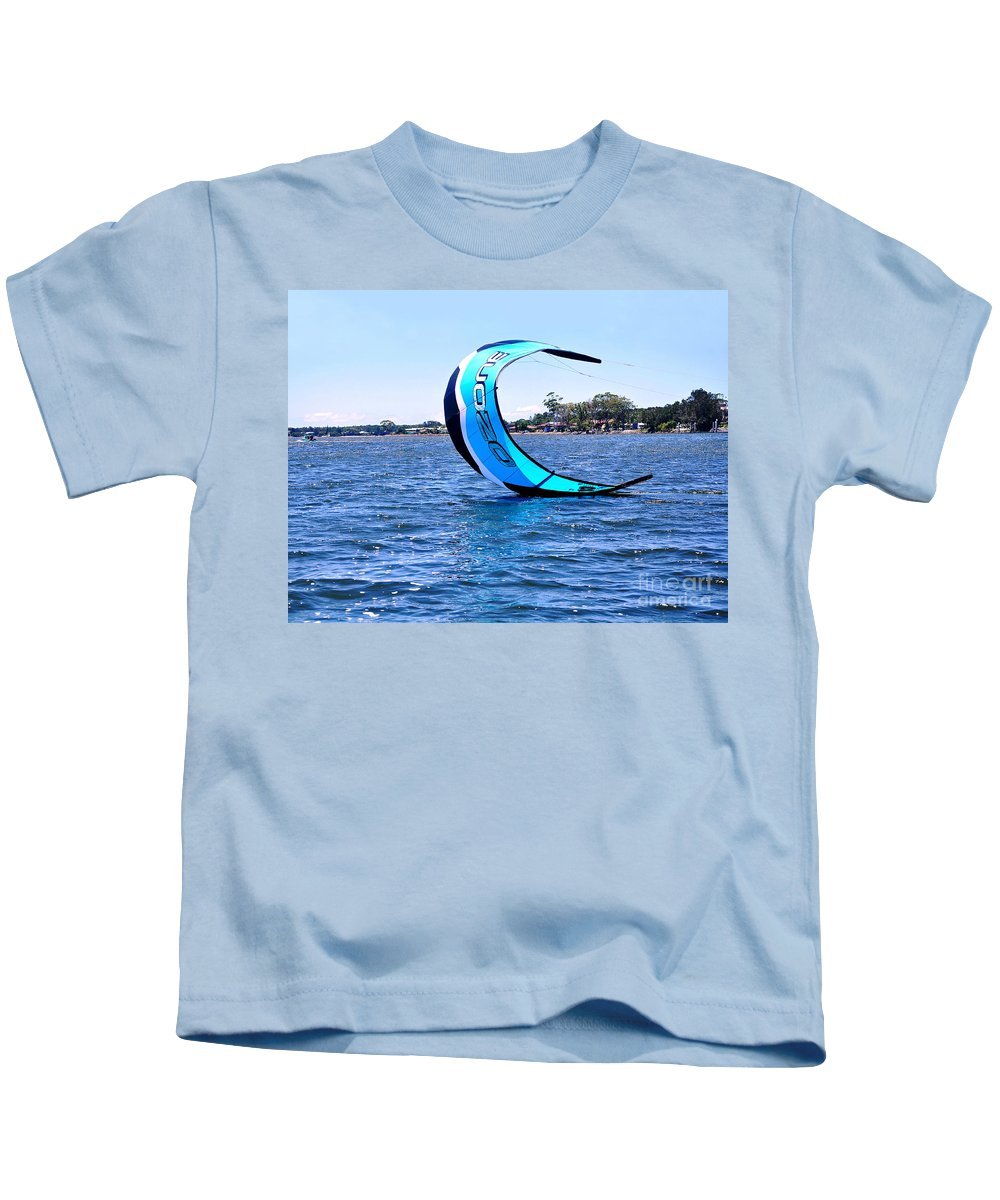Photography Kids T-Shirt featuring the photograph Ozone Landing 2 by Kaye Menner