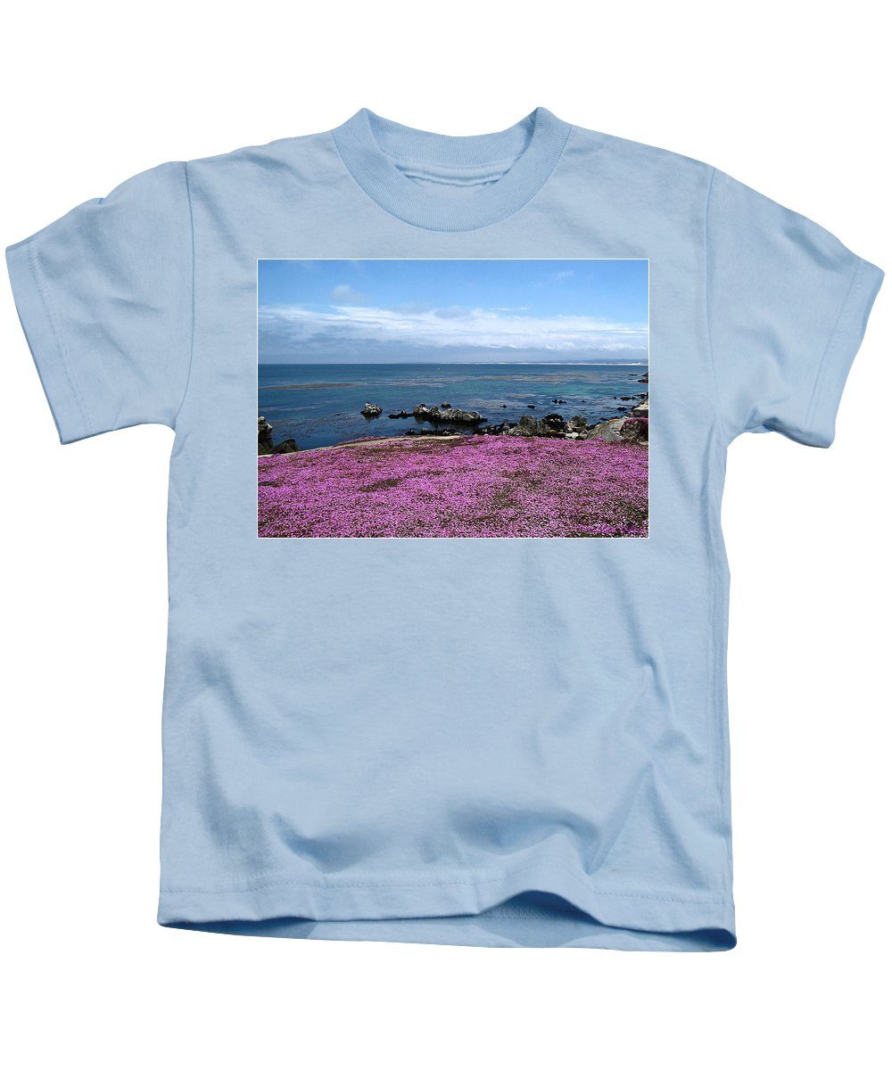 Pacific Grove Kids T-Shirt featuring the photograph Pacific Grove California by Joyce Dickens