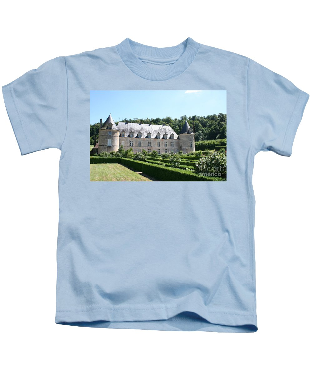 Palace Kids T-Shirt featuring the photograph Palace And Garden Bussy Rabutin - Burgundy by Christiane Schulze Art And Photography