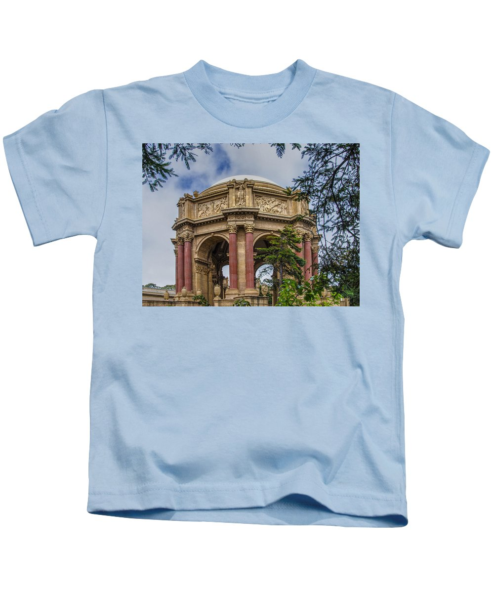 Museum Kids T-Shirt featuring the photograph Palace Of Fine Arts - San Francisco California by Jon Berghoff