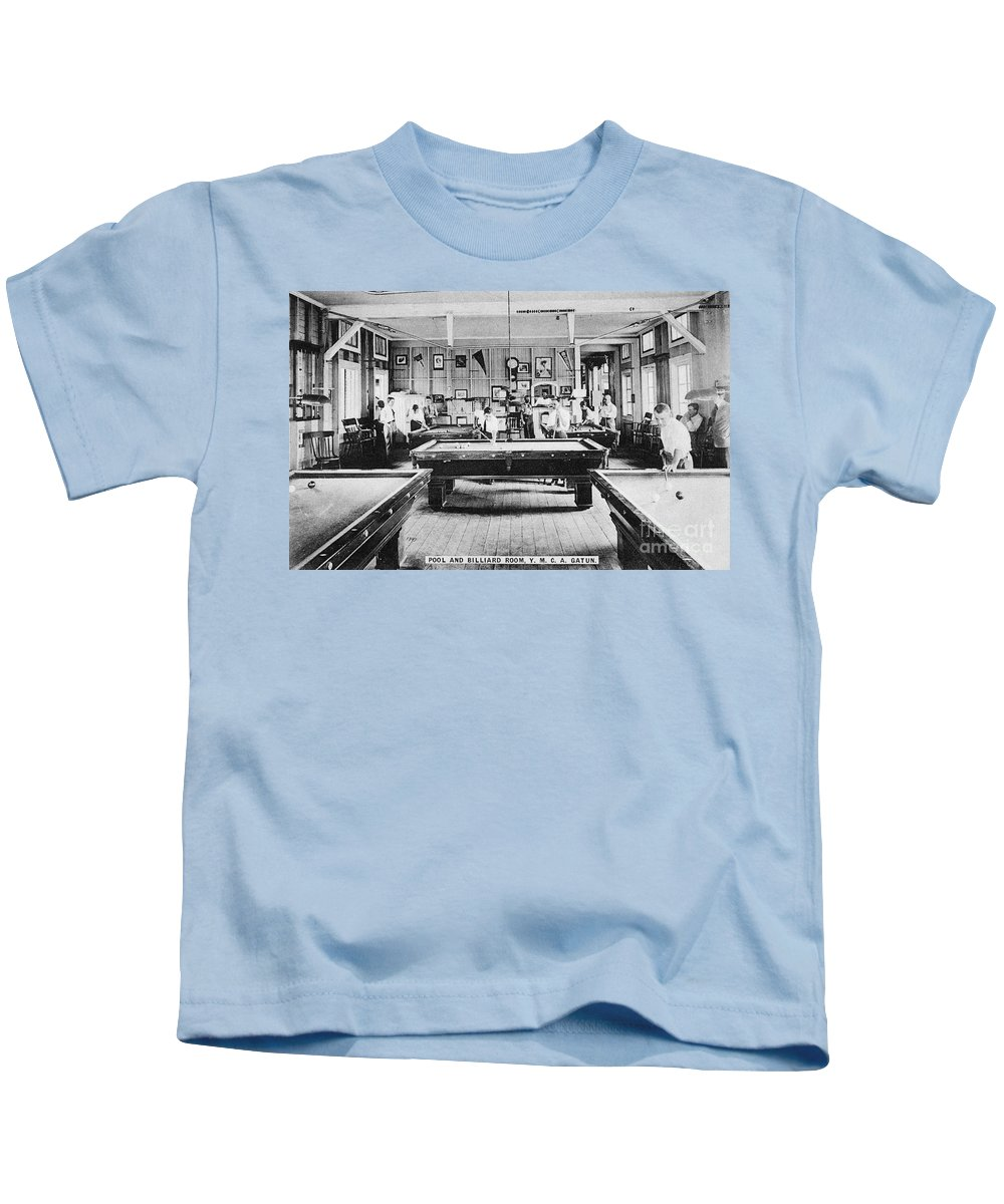 1910 Kids T-Shirt featuring the photograph Panama Ymca C1910 by Granger