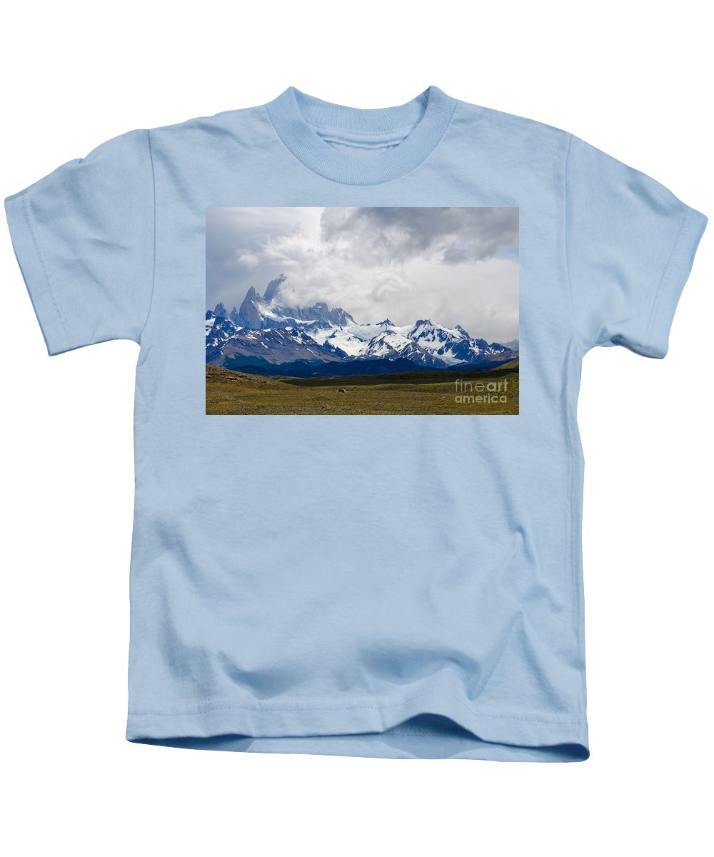Mount Kids T-Shirt featuring the photograph Patagonia by Ralf Broskvar