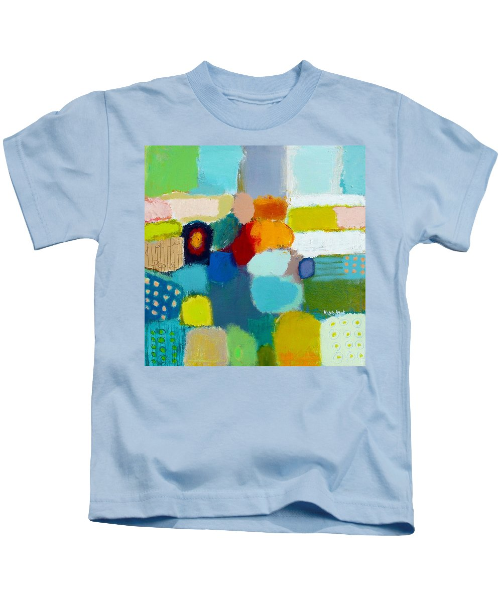 Peace Kids T-Shirt featuring the painting Peace And Joy 3 by Habib Ayat