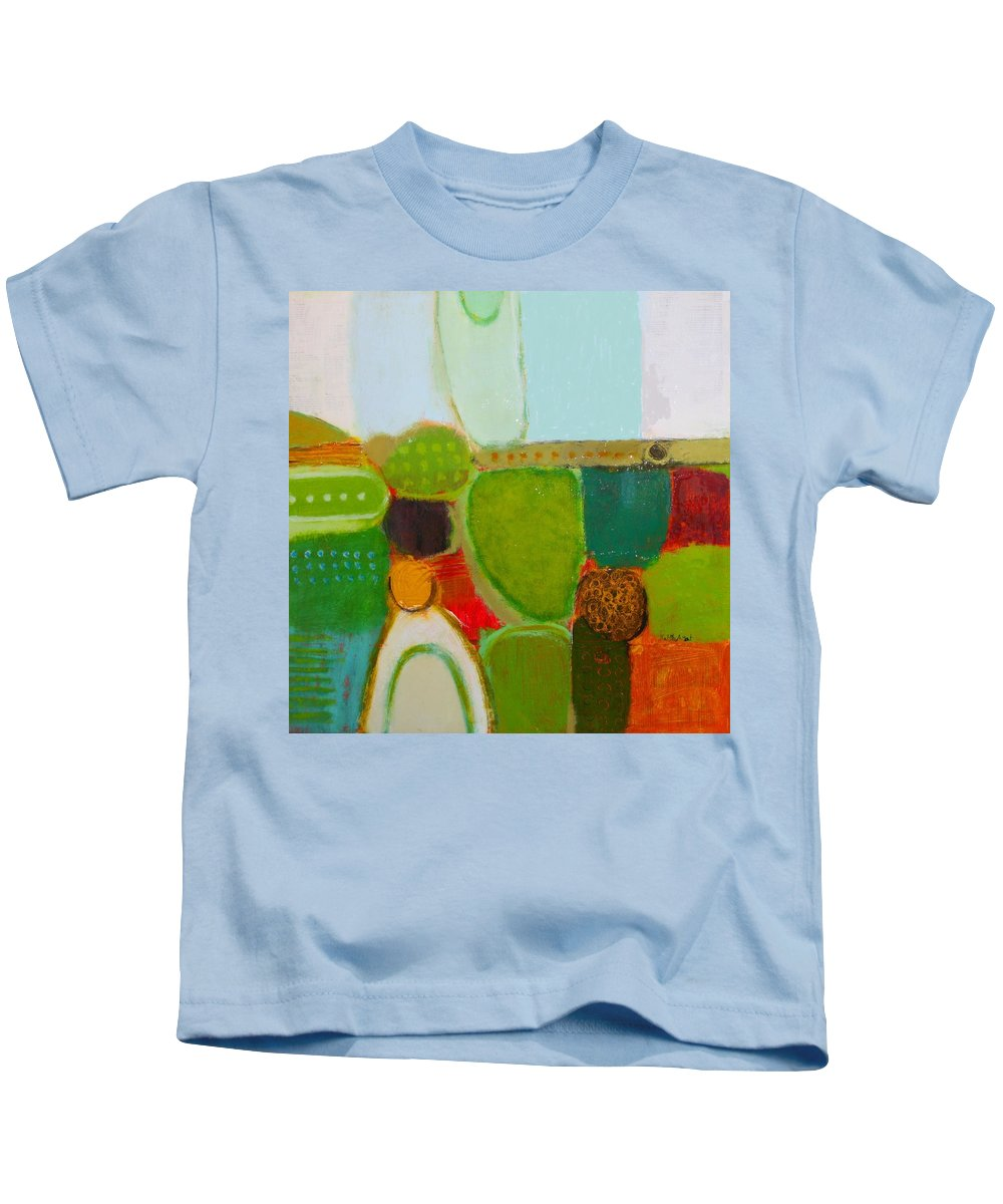 Abstract Kids T-Shirt featuring the painting Peace And Joy 4 by Habib Ayat