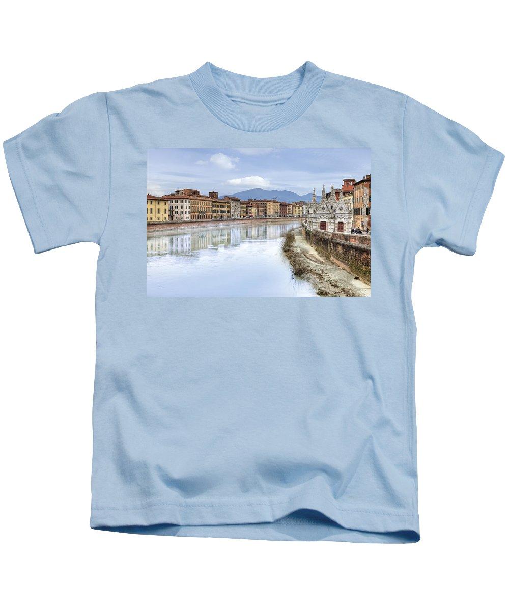 Pisa Kids T-Shirt featuring the photograph Pisa by Joana Kruse