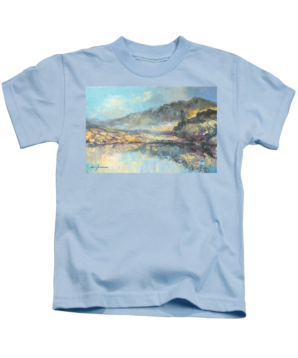 Poland Kids T-Shirt featuring the painting Poland - Tatry Mountains by Luke Karcz