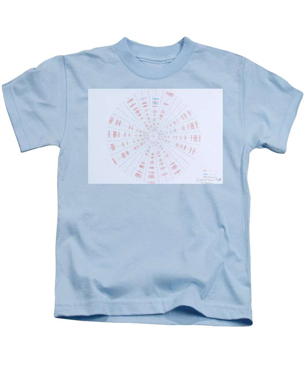 Prime Number Kids T-Shirt featuring the drawing Prime Number Pattern P Mod 40 by Jason Padgett