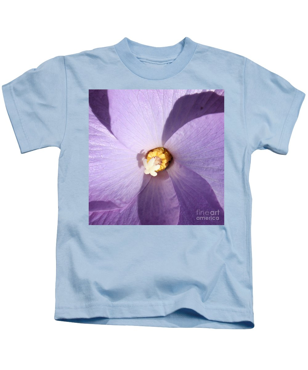 Purple Kids T-Shirt featuring the photograph Purple Flower Square by Carol Groenen