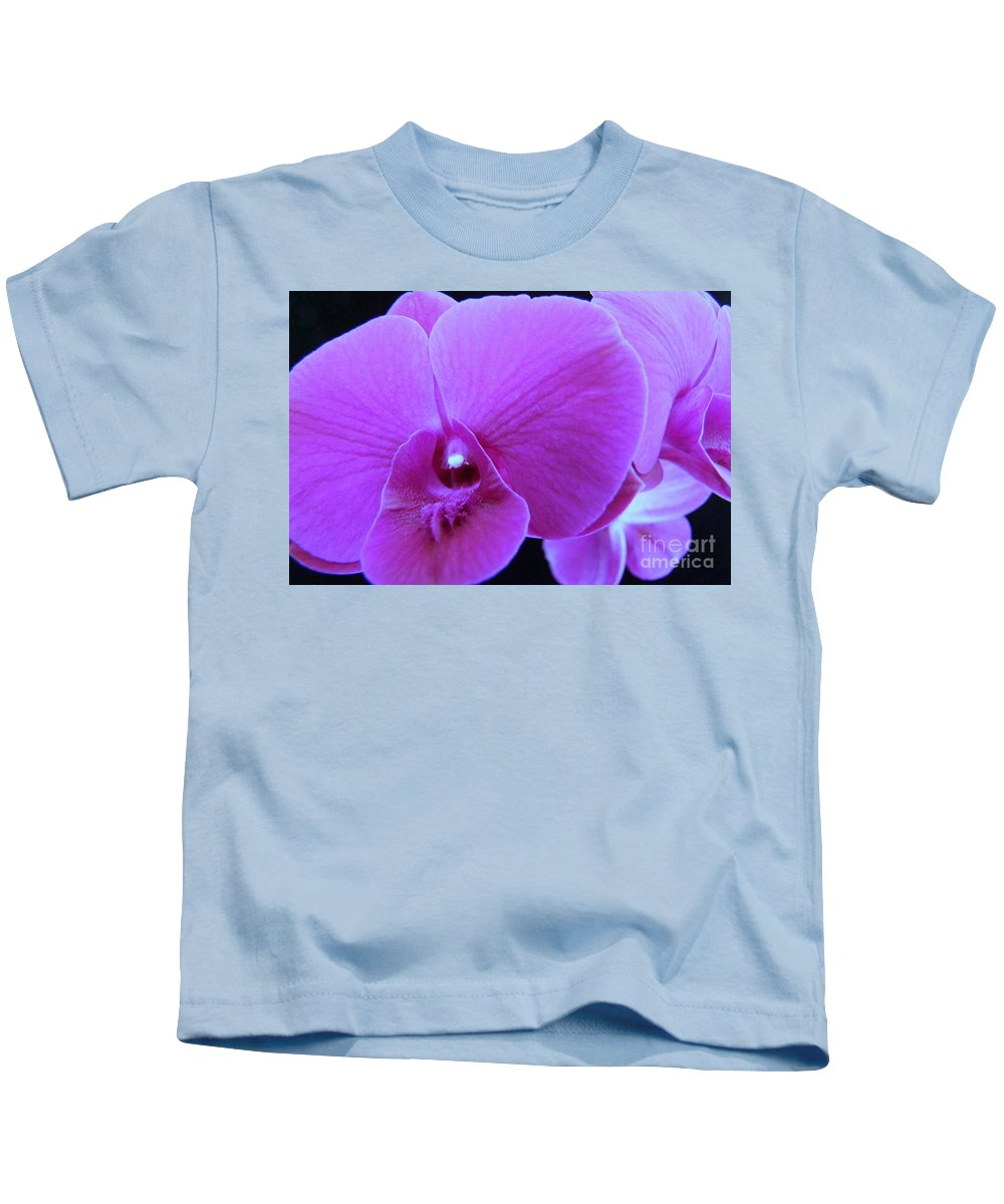 Purple Kids T-Shirt featuring the photograph Purple Orchid 7 by Mary Deal