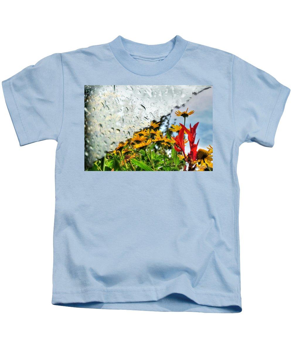 Rain Kids T-Shirt featuring the photograph Rain Rain Go Away... by Michael Frank Jr