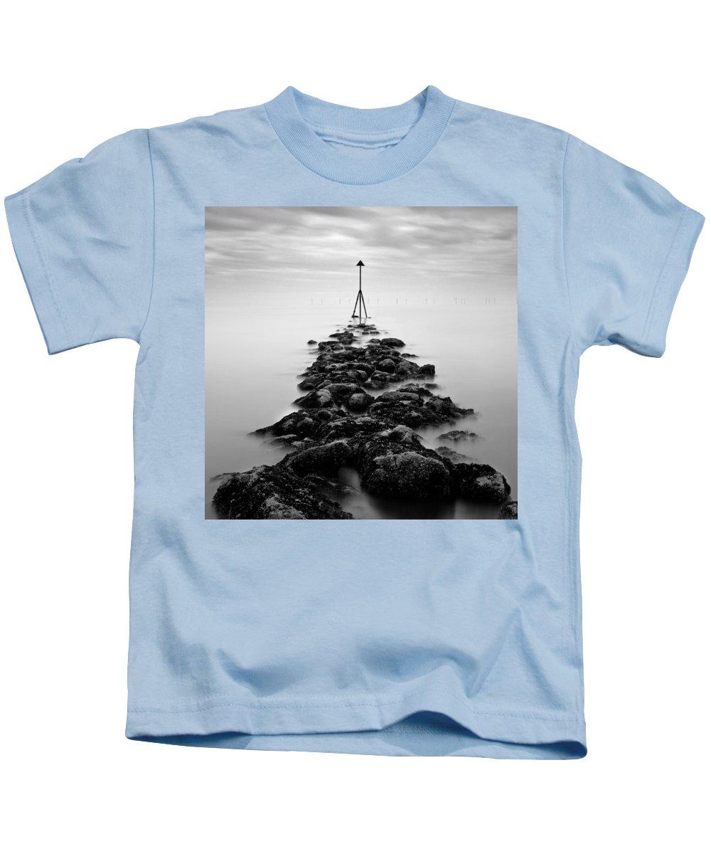 Ocean Marker Kids T-Shirt featuring the photograph Receding Tide by Dave Bowman