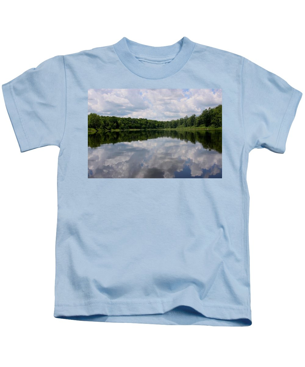 Reflections Kids T-Shirt featuring the photograph Reflections by Angie Schutt