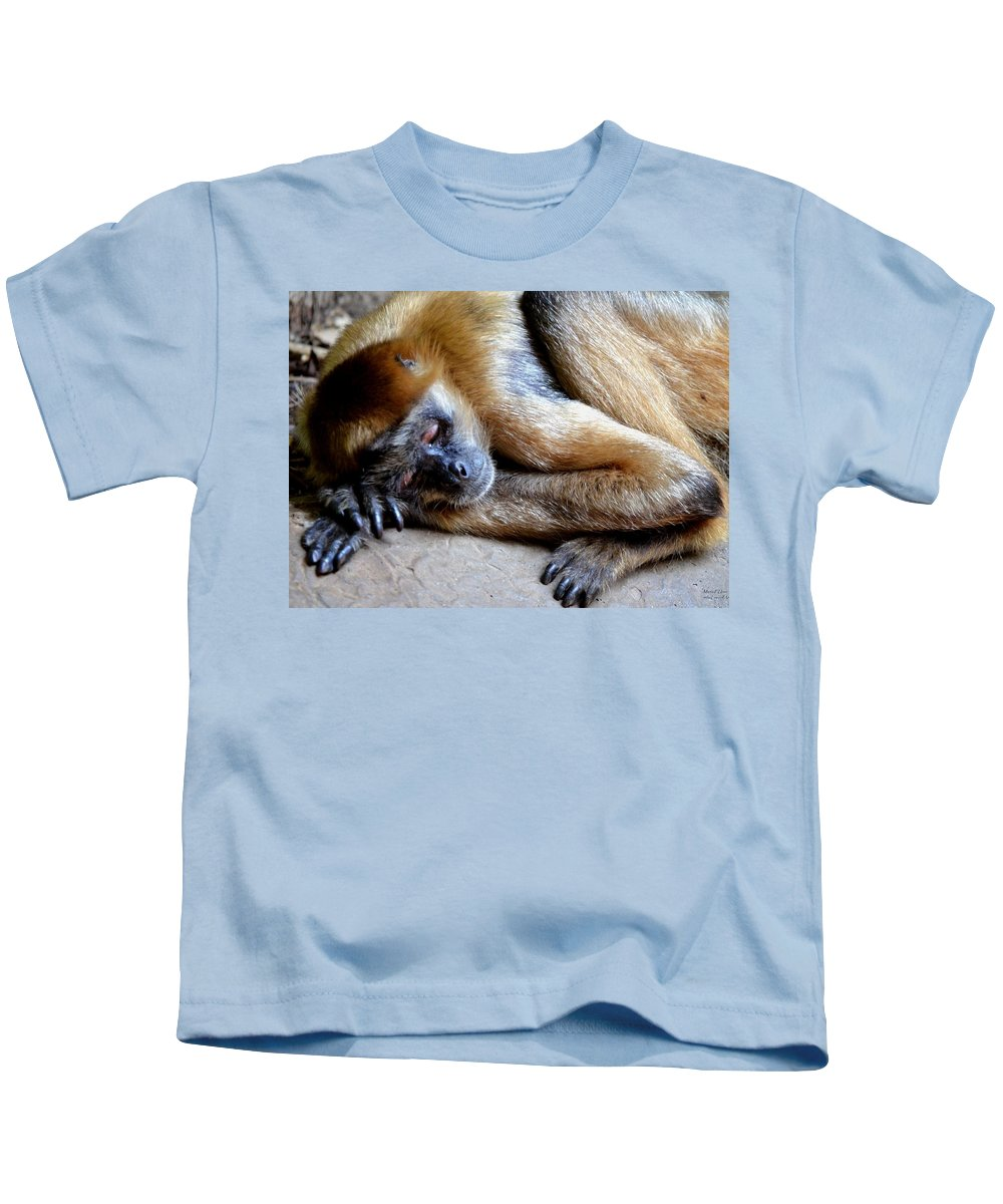 Resting Comfortably Kids T-Shirt featuring the photograph Resting Comfortably by Maria Urso