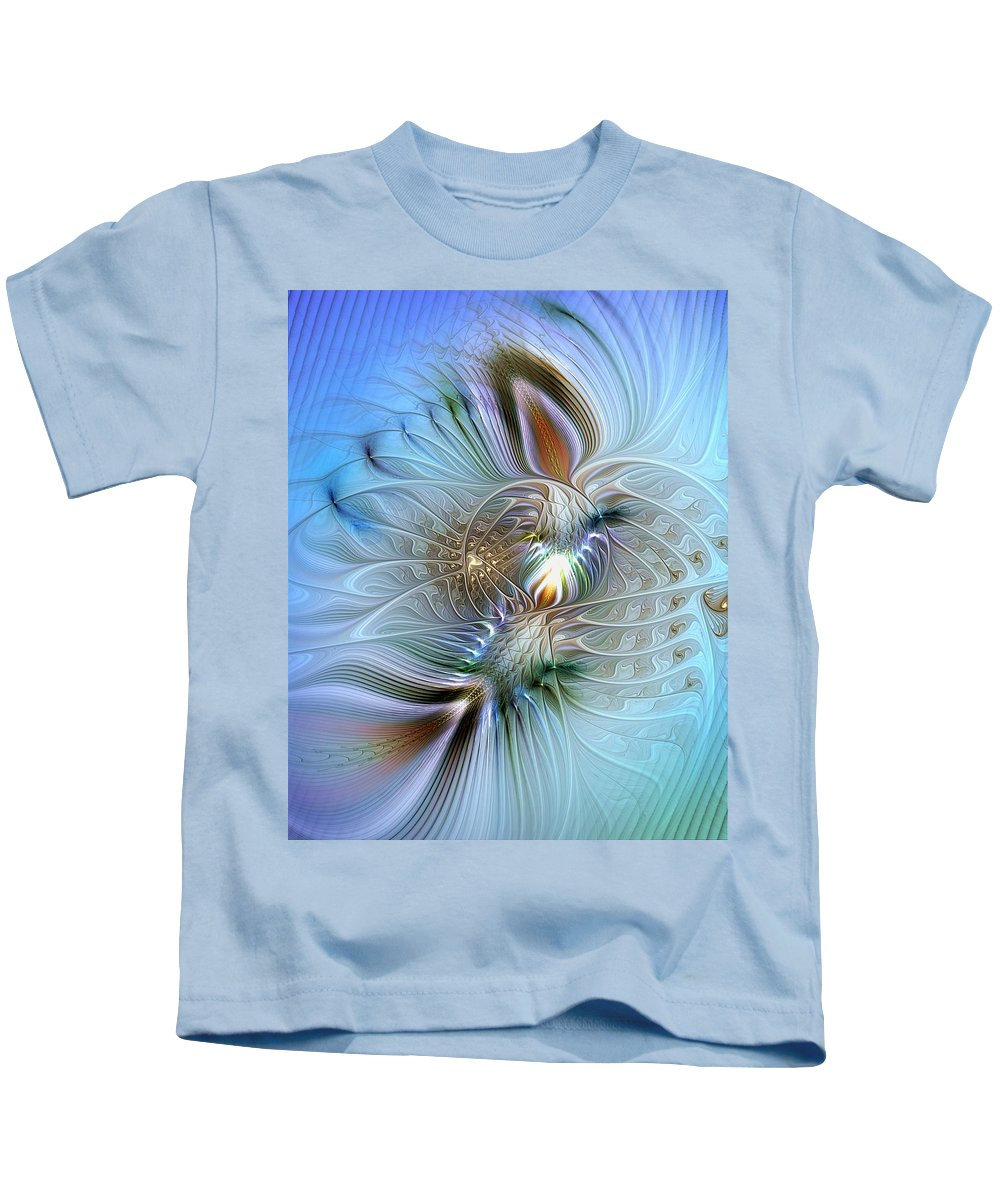 Abstract Kids T-Shirt featuring the digital art Rhapsodic Rendezvous by Casey Kotas