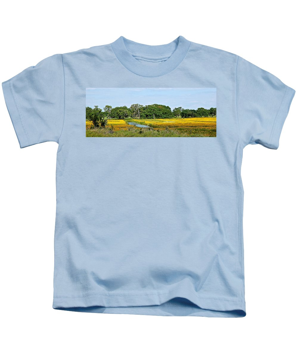 Landscape Kids T-Shirt featuring the photograph Riot Of Color by Norman Johnson