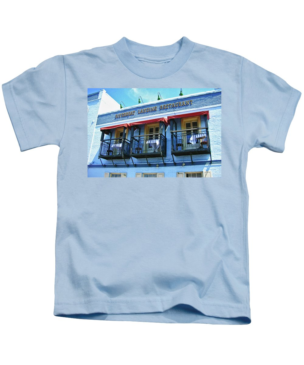 Water Street Kids T-Shirt featuring the photograph Riverboat Landing 0769 by Guy Whiteley