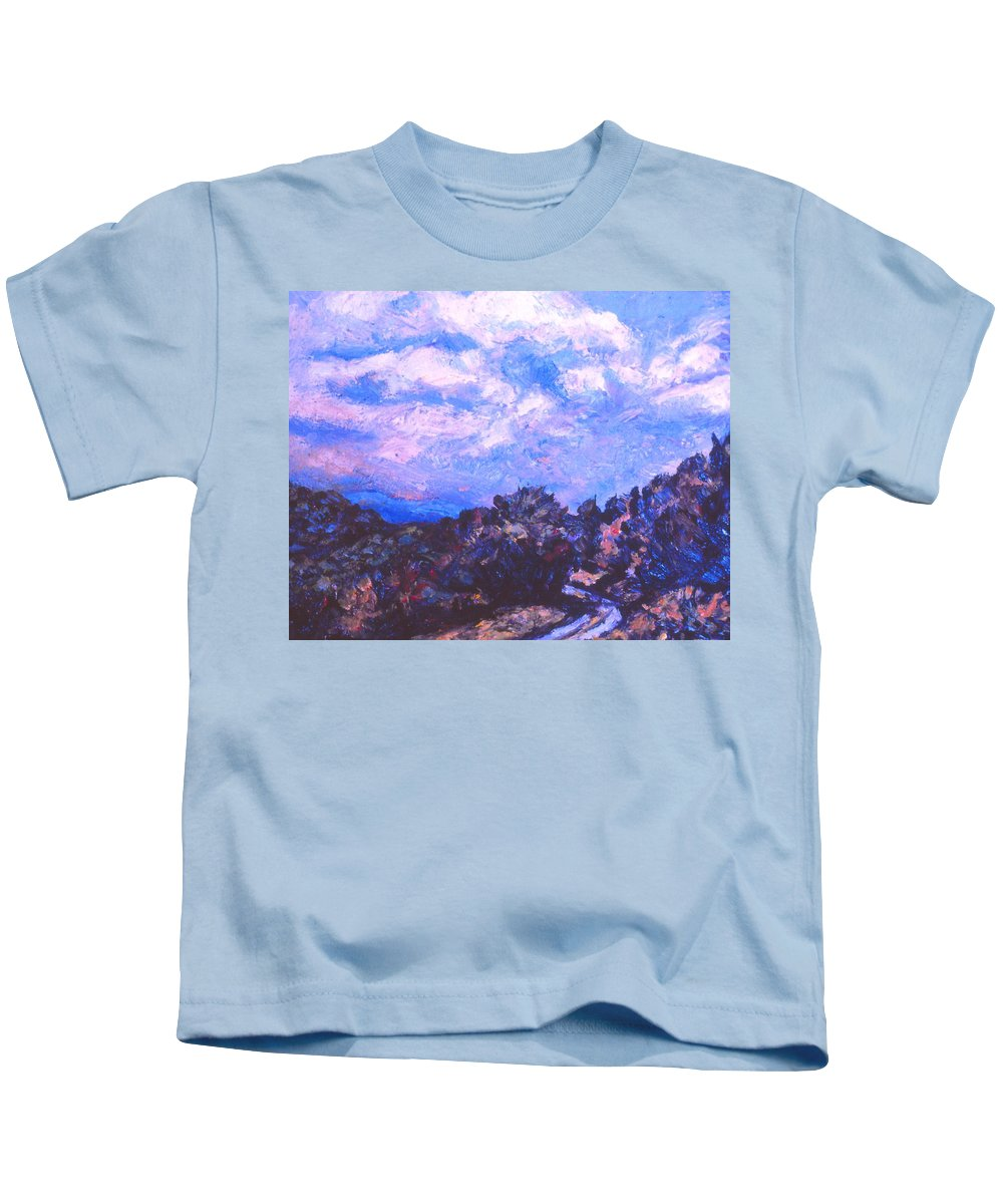 Blue Ridge Parkway Kids T-Shirt featuring the painting Road To Rocky Knob by Kendall Kessler