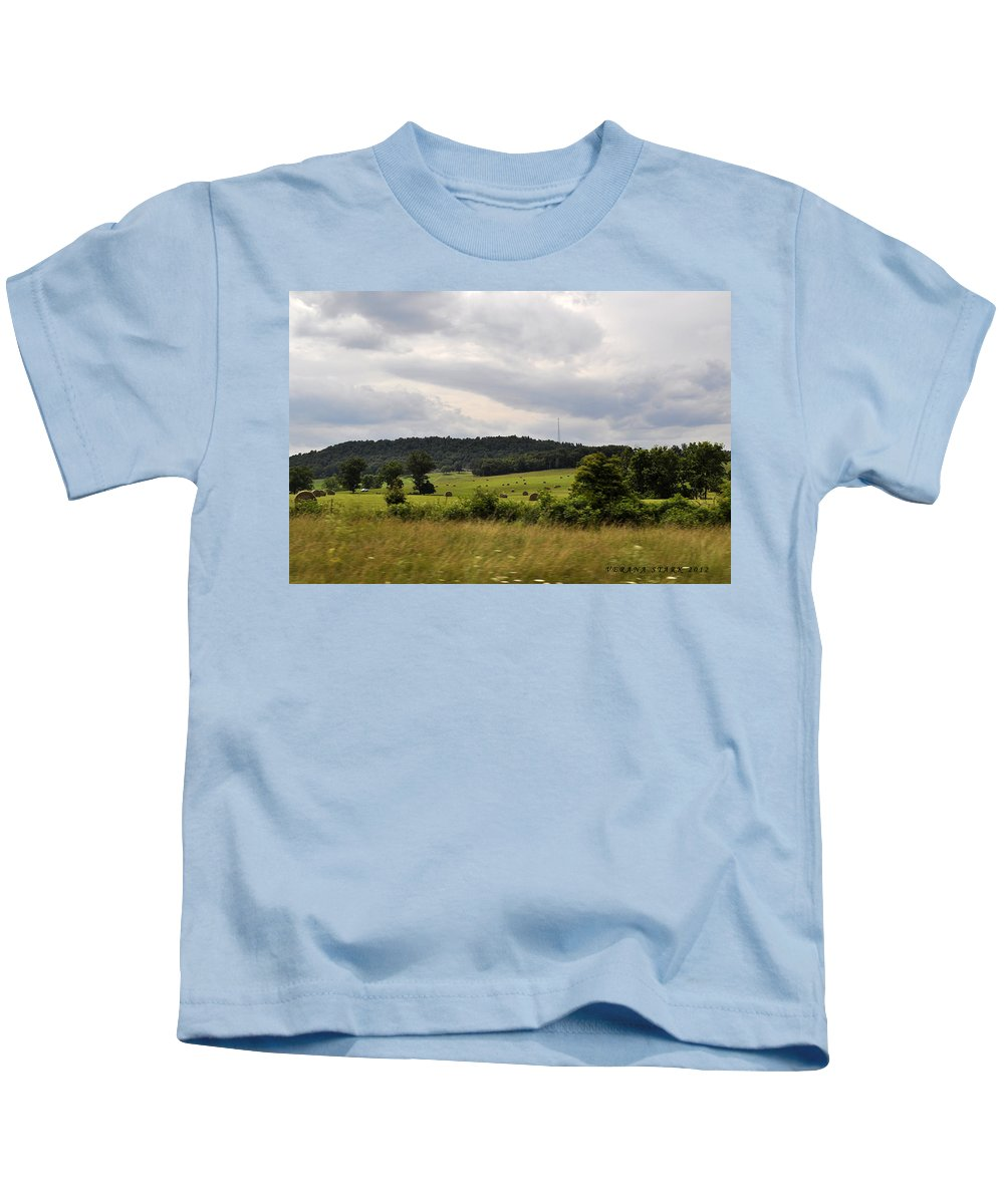 Mountains Kids T-Shirt featuring the photograph Road Trip 2012 by Verana Stark